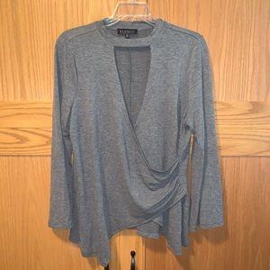 EUC plus size grey top
